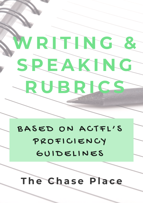 Writing & Speaking rubrics