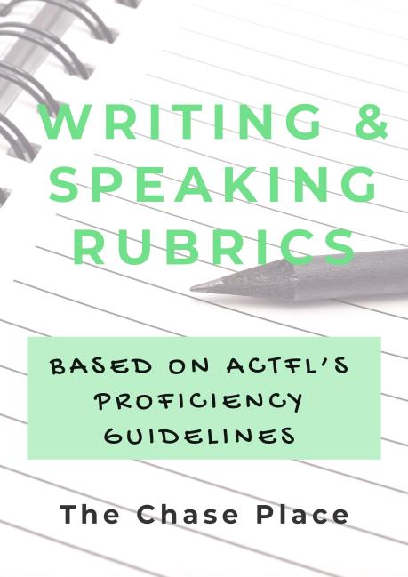 Writing & Speaking rubrics